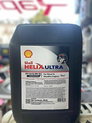Shell Helix Ultra ECT C2 C3 SAE 0W30 20L Car Engine Oil 20 Litre Fully Synthetic