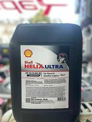 Shell Helix Ultra ECT C2 C3 SAE 0W30 20L Engine Oil 20 Litre Fully Synthetic new