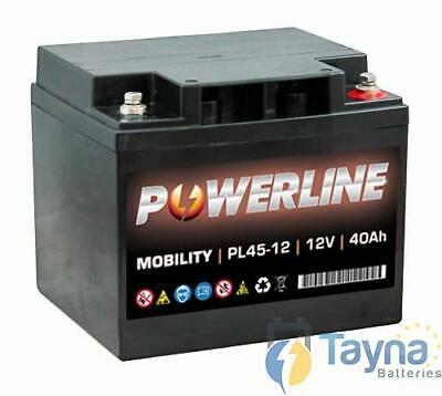 PL45-12 Powerline Mobility Batterie 12V 40Ah