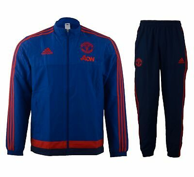 Adidas Manchester United Pres Suit Tracksuit Jacket Joggers Junior Age 2-3