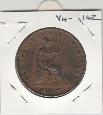 Scarce 1854 Large Penny. Nice Coin. Happy to keep if not sold. Free Post