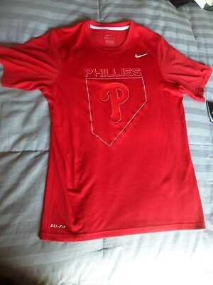 0c3768492 Philadelphia Phillies Nike Pro Combat Dri-Fit Men s S Fitted Shirt Nwt Msrp   30