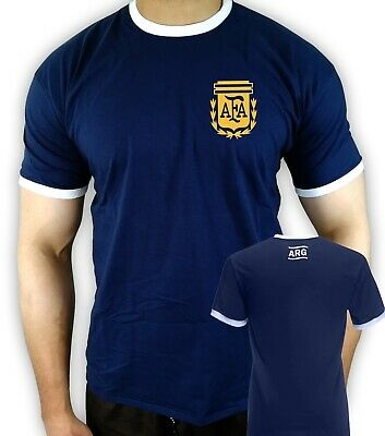 Retro styled argentina 1974 T-shirt Nostalgic away shirt wold cup unofficial new
