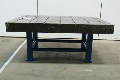 "Cast Iron Welding Layout Inspection Work Table Bench 70-1/4""x50""x31"" Web Top"