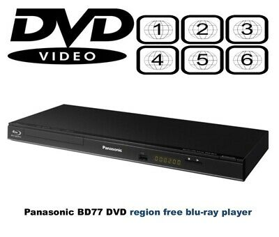 Panasonic DMP-BD77 Slim MULTI REGION FREE  (DVD 1-8) Blu-ray Player