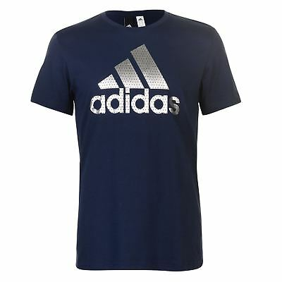 Adidas BOS Foil Leisure Tshirt tee mens top navy silver UK size 2XL
