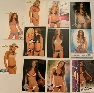 Carrie Ann Stroup Benchwarmer Promo and Autographed Cards Set of 11