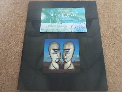 PINK FLOYD - The Division Bell(UK 1994 OFFICIAL CONCERT PROGRAM AND TICKET STUB)