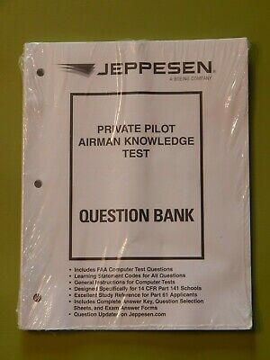 Jeppesen Private Pilot Airmen Knowledge Test Question Bank Study Reference New