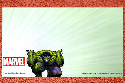Marvel Super Heroes The Hulk 2019 Royal Mail First Day Envelope + Insert Card