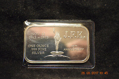 """1973 """"J.F.K. 10th Anniversary"""".MED-2..only 2300 minted...s/n 673.........#1427"""