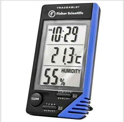 Fisher Scientific Traceable Lab  Thermometer, Clock/Humidity/Monitor Model 4040