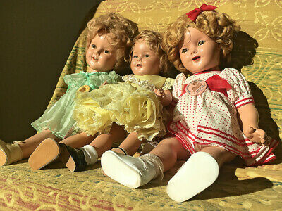 1d2d3e8e5b23 Antique Lot of *Original* Composition Ideal Shirley Temple Dolls 18in and  16in