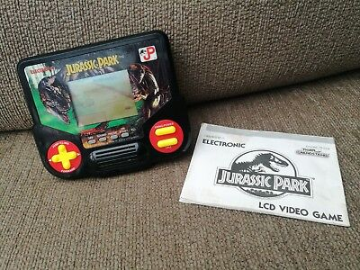 Tiger JURASSIC PARK Hand Held Electronic Game 90s Toys Retro with instructions