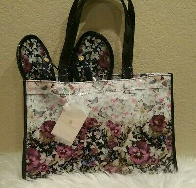 d874bf97ae23a Ted Baker Enchantment Icon Tote Bag   Gelly Flip Flop Set Navy Size Large