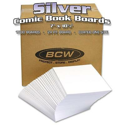 Case 1000 BCW Silver Age Comic Backing Boards (Not individually packaged - Bulk)