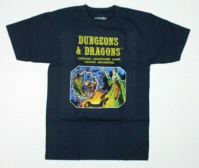 0d1ece56 Dungeons & Dragons Rulebook Fantasy Adventure Game Navy Blue T-Shirt New!