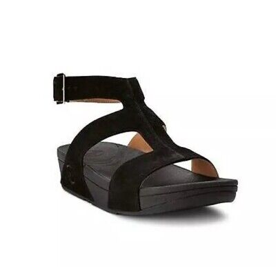 3be4e9d77a7 New Women s Fitflop Arena Gladiator Sandals Shoes Size 8 Black Nubuck  Leather