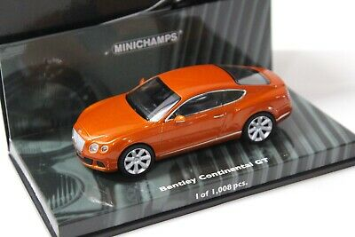 1:43 Minichamps Bentley Continental GT orange 2011 NEW bei PREMIUM-MODELCARS