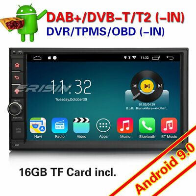Double 2Din GPS Android 8.1 Autoradio WiFi DAB+ TNT Radio OBD Bluetooth Navi USB
