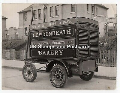 Old Fife Photograph Of Cowdenbeath Co-op Society Horse Drawn Bakery Cart
