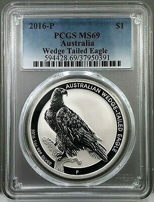 2016 P Australia $1 Wedge Tailed Eagle PCGS MS69 1oz Fine Silver PERTH MINT