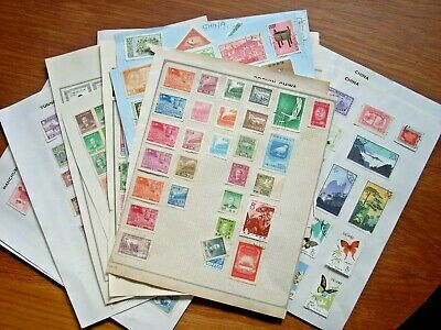 China  Large  Collection On Old Album Pages Mint And Used All Pictured