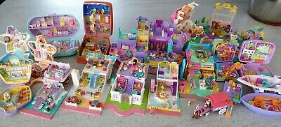 16 vintage Polly Pocket BlueBird (12 100% complete - 4 not complete) lot