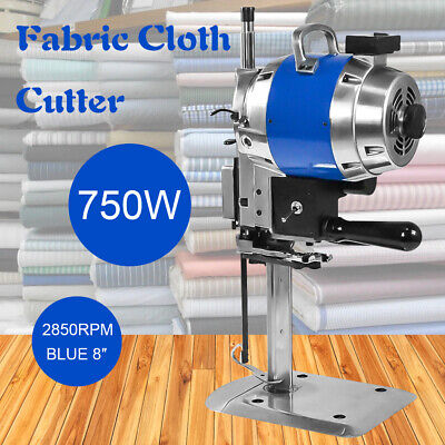 "Fabric Cloth Cutter Blue 8"" Cutting Machine Auto Sharpening Clothes Stable"