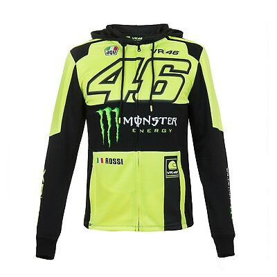 2018 Valentino Rossi Moto GP VR 46 MONSTER Zip Hoody Jumper Mens OFFICIAL *SALE*