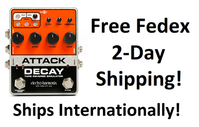 New Electro-Harmonix EHX Attack Decay Tape Reverse Simulator Guitar Pedal!