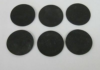 """Buna Nitrile rubber disc (~3/32"""" thick x 1 5/8"""" diameter) Lot of 10 Made in USA"""