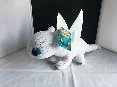 "DreamWorks Light Fury Plush Soft Toy 17"" How to Train Your Dragon 3 NEW"