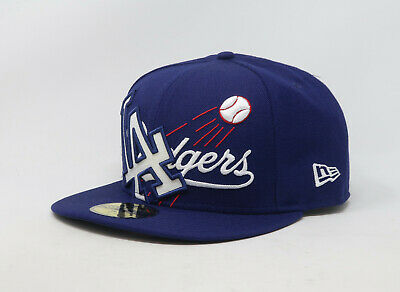 New Era 59Fifty Hat Los Angeles Dodgers Mens Blue Fitted LA 5950 Cap Fitted