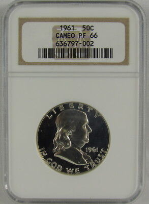 1961 Proof Franklin Half Dollar Ngc Pf66 Cameo