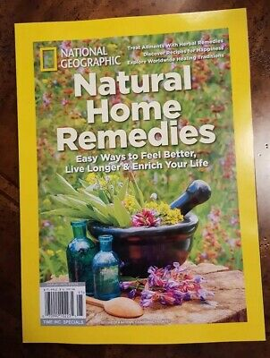 National Geographic 2019, Natural Home Remedies Brand New Free Shipping