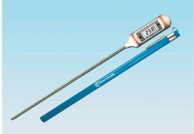 """Fisher Traceable Long Stem Digital Thermometer, with 3/8"""" High LCD Display, 8"""" +"""