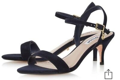 Strappy Rrp Navy Monnrow 740 Sandals Heel Size Uk Dune £65 Mid wkZ80PNnOX