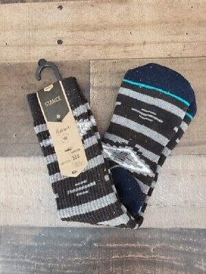 New Stance Reserve Classic Crew Graved Multicolor Socks Men's Sz L (9-12)