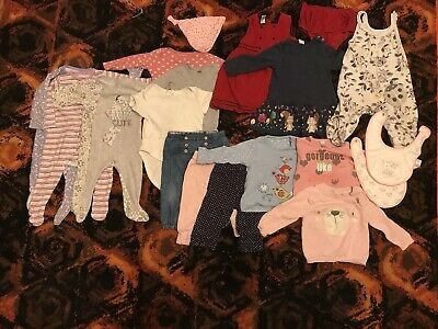 Bundle Of Baby Girl Clothes 6-9months M&S GEORGE NEXT MOTHERCARE (18items)