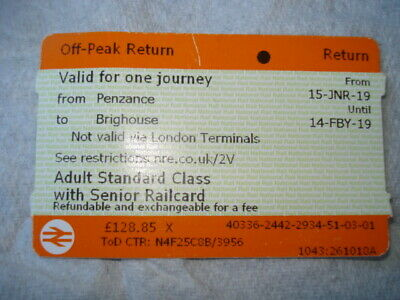 Used ticket Penzance to Brighouse