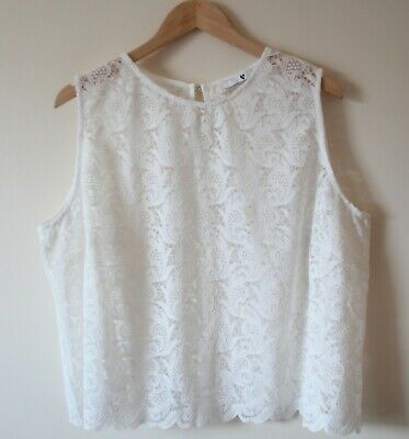 V by Very Curve Pale Ivory Lace Top Flawless Plus Size 22