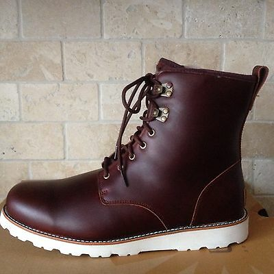 0a3180bbe4d UGG HANNEN TL Cordovan Waterproof Leather Sheepskin Boots Shoes Size ...