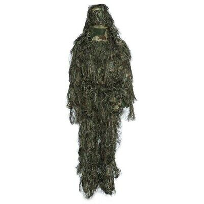 Camouflage Jungle Hunting Ghillie Suit Set Woodland Sniper Birdwatching