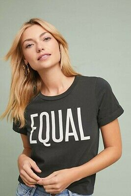 90dfd6a6 New Anthropologie Sol Angeles Equal Graphic Tee $78 X-SMALL Black