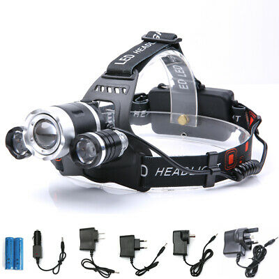 2018 Rechargeable 30000Lm 3T6 Xml Led Headlamp Headlight Torch Flashlight Hiking
