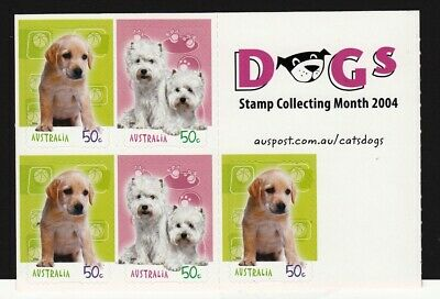 2004 Australian Decimal Stamps - Dogs  stamp collecting month - MNH P&S sheetlet