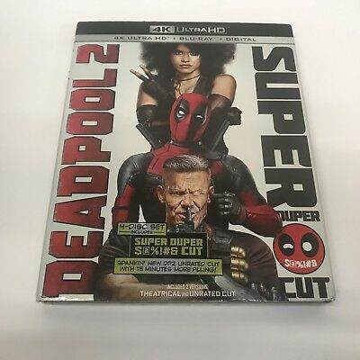Deadpool 2 Super Duper Cut 4K Ultra HD plus Blu Ray and digital code