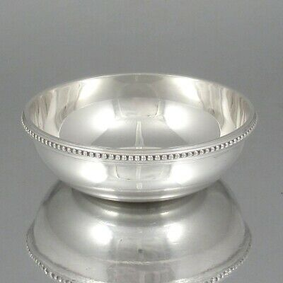 Vintage French Christofle Gallia Silver Plate Nut Dish Bonbon Cocktail Bowl