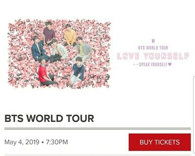 3x BTS world tour tickets - Pasadena on May 4th